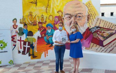 La diputada de Juventud presenta en Arjona el graffiti creado en el marco del proyecto Street Art Plus